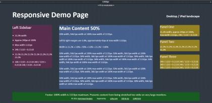 Responsive demo page screenshot